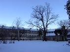 Баткунски манастир - Комплексът през зимата