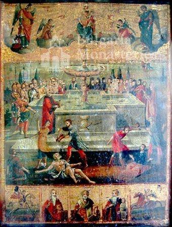Ботевски манастир - Стенописна икона (Снимка 8 от 10)
