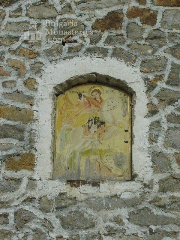 Букоровски манастир - Иконата на Св. Георги на входа на църквата (Снимка 9 от 10)