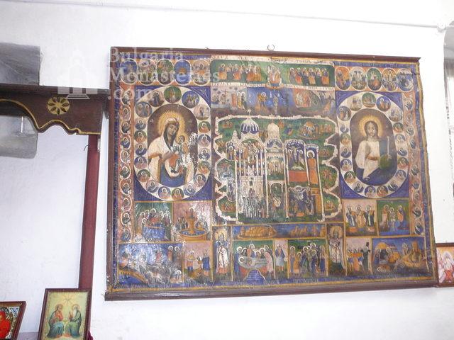 Дивотински манастир - Стенописна икона (Снимка 14 от 16)