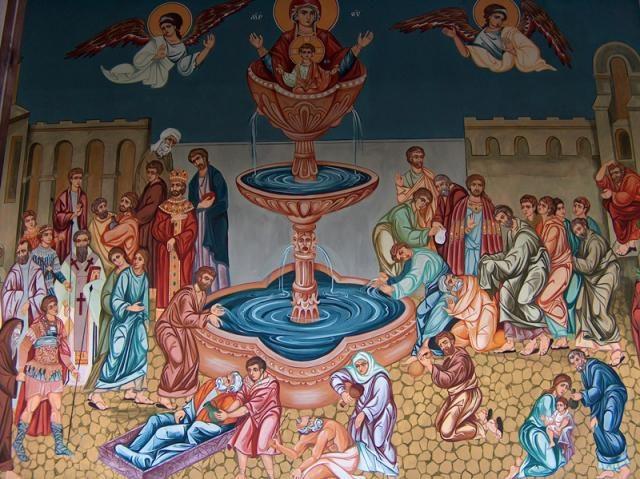 Кърджалийски манастир - Стенопис (Снимка 4 от 6)