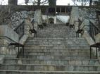 Кукленски манастир - Стълбите към жилищните сгради