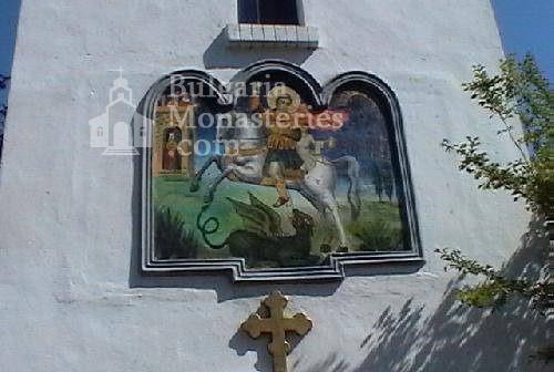 Поморийски манастир - Стенопис на камбанарията (Снимка 17 от 24)