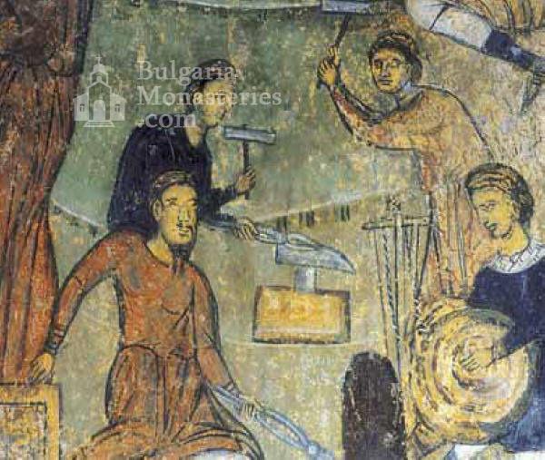Земенски манастир - Исковаване на разпятието (Снимка 12 от 27)