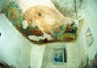 Aladzha Monastery - Fragment of the frescoes