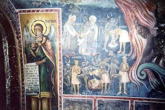 Transfiguration monastery  - Murals in the church (Picture 20 of 29)