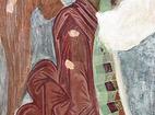 """Аладжа манастир - Фрагменти от стенопис - """"Ангел"""""""