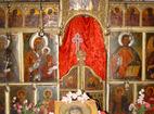 Курилски манастир - Иконостасът в църквата