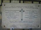 Плаковски манастир - Възпоменателната плоча