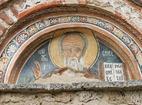 Земенски манастир - Св. Йоан Богослов над входа на църквата